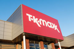 TK Maxx the discount fashion retailer shop sign Stock Image