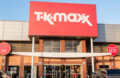 TK Maxx the discount fashion retailer shop sign Royalty Free Stock Images