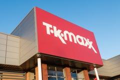 TK Maxx dyskontowy moda detalisty sklepu znak Obraz Stock