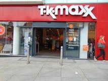 TK Maxx Shop Fotos de archivo libres de regalías