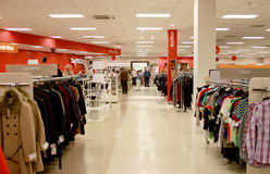 TK Maxx shop interior Royalty Free Stock Image
