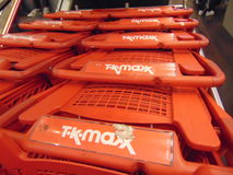 TK Maxx Trolly. An image of TK-Maxx trollies located in Galway City Royalty Free Stock Images