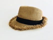 Tkactwo kapelusz na bielu Obraz Royalty Free