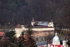 Tkacza ` bastionu cytadela, Brasov, Rumunia Obraz Stock