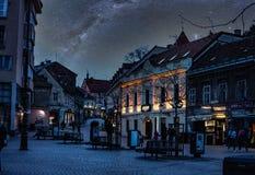 Free Tkalčićeva Street Under A Night Sky Stock Photos - 183015283