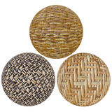 Tkana bambusowa piłka Obraz Royalty Free