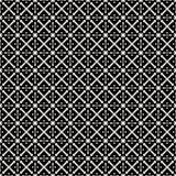 Tkanina druk Geometryczny wzór w powtórce Bezszwowy tło, mozaika ornament, etniczny styl Dwa koloru Obraz Royalty Free
