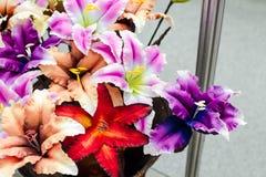 tkanina kolorowy kwiat Fotografia Royalty Free