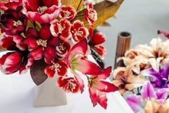 tkanina kolorowy kwiat Obraz Royalty Free