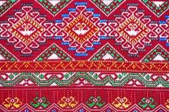 Tkanina koloru Antykwarska handwoven tkanina, naturalne barwidło tkaniny, piękni kolory, piękne tkaniny, stary mod tkanin jedwab  Fotografia Royalty Free
