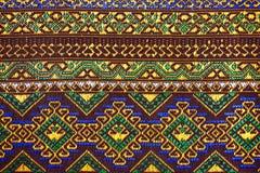 Tkanina koloru Antykwarska handwoven tkanina, naturalne barwidło tkaniny, piękni kolory, piękne tkaniny, stary mod tkanin jedwab  Zdjęcia Stock