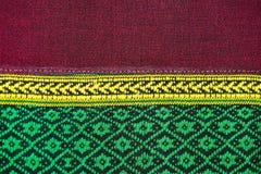 Tkanina koloru Antykwarska handwoven tkanina, naturalne barwidło tkaniny, piękni kolory, piękne tkaniny, stary mod tkanin jedwab  Zdjęcie Stock