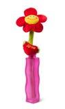 Tkanina kwiat w wazie Fotografia Stock