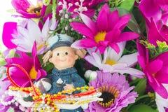 Tkanina kwiaty Zdjęcie Stock