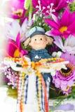 Tkanina kwiaty Zdjęcia Stock