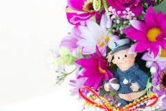Tkanina kwiaty Fotografia Stock
