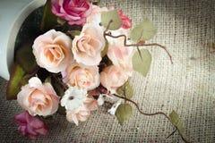 Tkanina kwitnie na tkaniny podłoga Obraz Royalty Free