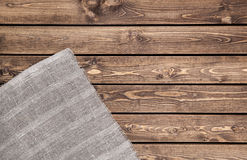 Tkanina na drewnianym tle Zdjęcie Stock
