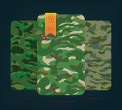 Tkanina na militarnym kamuflażu na tle Zdjęcia Royalty Free
