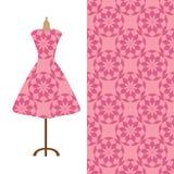 Tkanina wzoru projekt dla kobiety sukni Doskonalić dla drukować na tkaninie lub papierze Zdjęcia Royalty Free