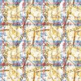Tkanina wzoru projekt Szkocka krata i łańcuch ilustracji