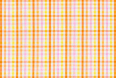 Tkanina z kolorowym sprawdzać wzorem Obraz Royalty Free