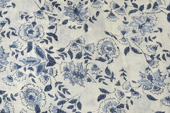 Tkanina z kwiatami Zdjęcie Stock