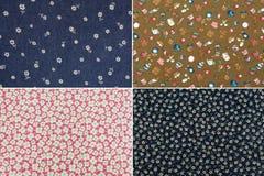 Tkanina z kwiatu wzorem Fotografia Stock
