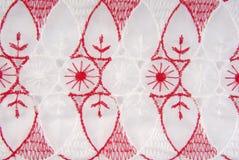 Tkaniny broderii tekstura Fotografia Royalty Free