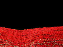 tkaniny czerwień Fotografia Royalty Free