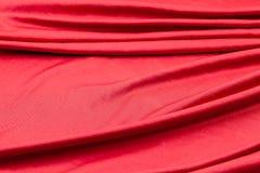 Tkaniny czerwona tekstura Zmięty tkaniny tło Obrazy Stock