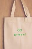 Tkaniny eco torba Fotografia Stock