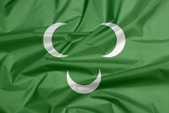 Tkaniny flaga otomanu Tripolitania xviii wiek flaga fotografia stock