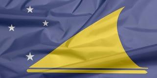 Tkaniny flaga Tokelau Zagniecenie Tokelau flagi tło fotografia stock