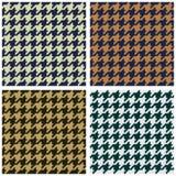 tkaniny houndstooth wzór bezszwowy Obraz Royalty Free