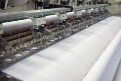 Tkaniny i tkaniny fabryka zdjęcia stock