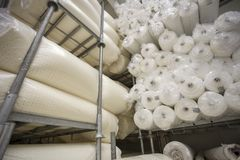 Tkaniny i tkaniny fabryka zdjęcia royalty free