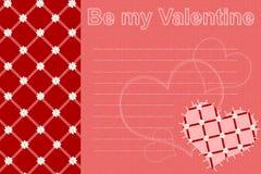 tkaniny karciany valentine royalty ilustracja