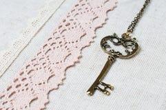 tkaniny klucza koronki pościel naturalna Fotografia Stock