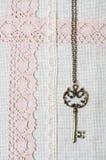 tkaniny klucza koronki pościel naturalna Obrazy Royalty Free