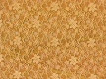 tkaniny koronkowy tekstylny tekstury kolor żółty Fotografia Royalty Free