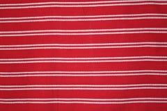 tkaniny kuchennej czerwieni pasiasty biel Zdjęcia Stock