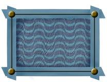 Tkaniny rama z metali guzikami Obraz Stock