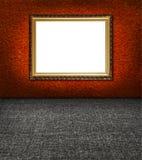 tkaniny ramowa elegancka terakotowa ściana Obrazy Royalty Free