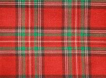 tkaniny sprawdzać czerwień Fotografia Royalty Free