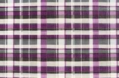 Tkaniny szkockiej kraty tekstura. Sukienny tło Zdjęcie Stock