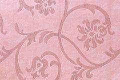Tkaniny tło, makaty tkaniny wzór z kwiecistym ornamentem Fotografia Stock