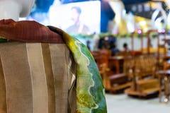 tkaniny tajlandzki deseniowy zdjęcia stock