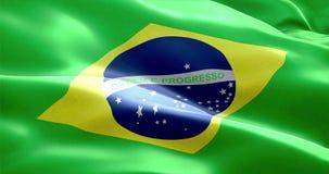 Tkaniny tekstura flaga Brazil naród ilustracji