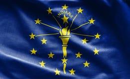 Tkaniny tekstura Indiana flaga - flaga od usa obraz stock